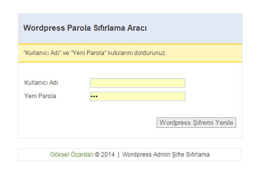 Wordpress Admin Şifreleme
